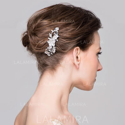 """Combs & Barrettes Wedding/Special Occasion/Casual/Party Rhinestone/Alloy 3.74""""(Approx.9.5cm) 1.18""""(Approx.3cm) Headpieces (042154572)"""