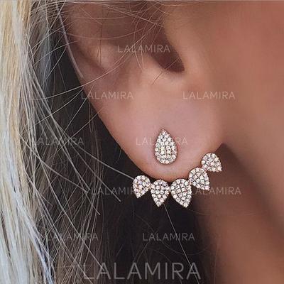 Pendientes Aleación/Diamantes de imitación Perforado Señoras' Hermoso Joyas de boda & fiesta (011129645)