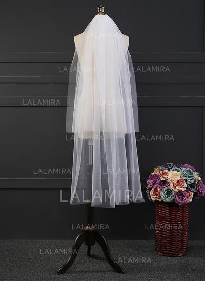 Waltz Bridal Veils Tulle Two-tier Drop Veil With Cut Edge Wedding Veils (006152171)