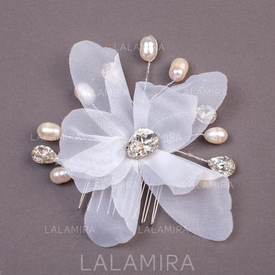 """Combs & Barrettes Wedding/Special Occasion/Party Imitation Pearls/Net Yarn 7.09""""(Approx.18cm) 0.78""""(Approx.2cm) Headpieces (042155927)"""
