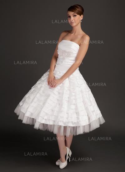 Beautiful General Plus Strapless A-Line/Princess Taffeta Wedding Dresses (002196894)