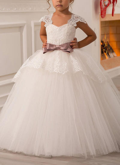 Sweetheart Ball Gown Flower Girl Dresses Sash/Bow(s) Sleeveless Floor-length (010211757)