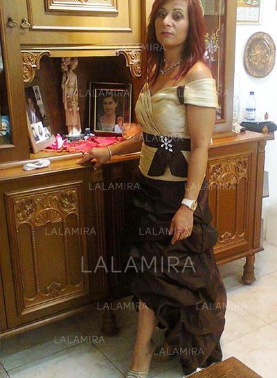 Forme Princesse Hors-la-épaule Taffeta Élégant Robes mère de la mariée (008212747)