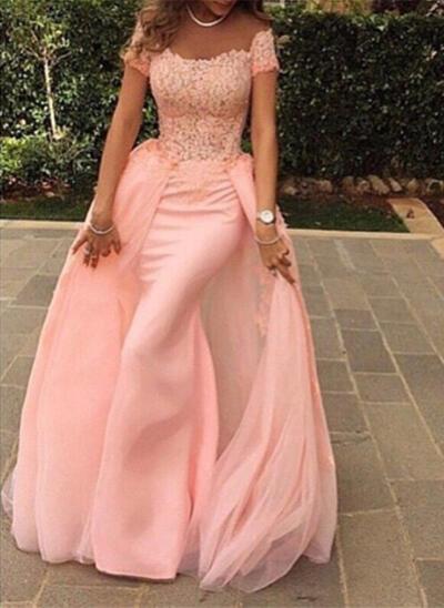 Flattering A-Line/Princess Scoop Neck Chiffon Evening Dresses Sleeveless (017145575)