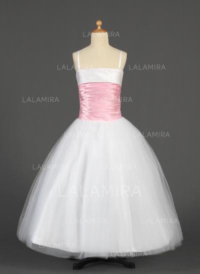 Hermoso Correas de hombro Corte de baile Tul/Charmeuse Vestidos para niña de arras (010014628)