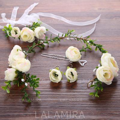 Pretty Flores de seda/Plástico Flores y plumas (Se venden en una sola pieza) (042130010)