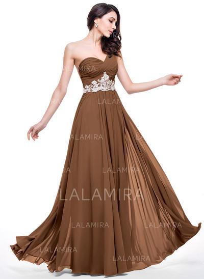 One-Shoulder A-Line/Princess Prom Dresses