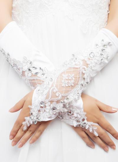 Elastic Satin Ladies' Gloves Elbow Length Bridal Gloves Cotton Gloves (014192006)