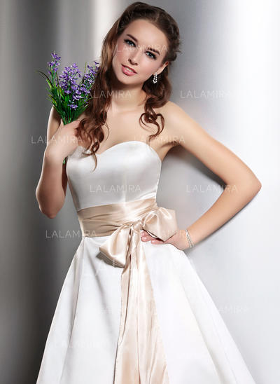 Women Charmeuse With Bow Sash Simple Sashes & Belts (015190955)