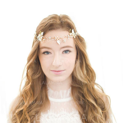 """Forehead Jewelry/Headbands Wedding/Special Occasion/Party/Carnival Alloy/Freshwater Pearl 16.14""""(Approx.41cm) 1.38""""(Approx.3.5cm) Headpieces (042156280)"""