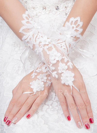 Tulle Ladies' Gloves Bridal Gloves Fingerless 25cm(Approx.9.84inch) Gloves (014192224)