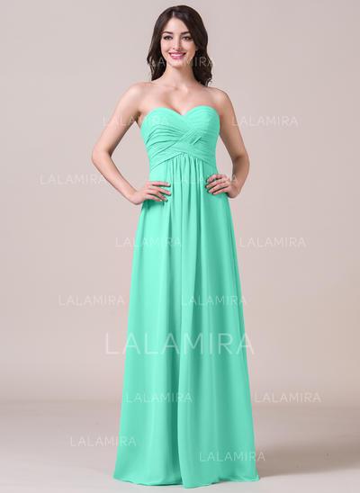 Sweetheart A-Line/Princess Chiffon Sleeveless Bridesmaid Dresses (007058124)