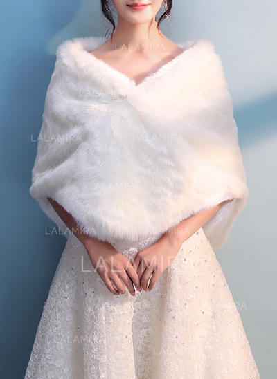 Wrap Wedding Faux Fur Ivory Wraps (013150267)