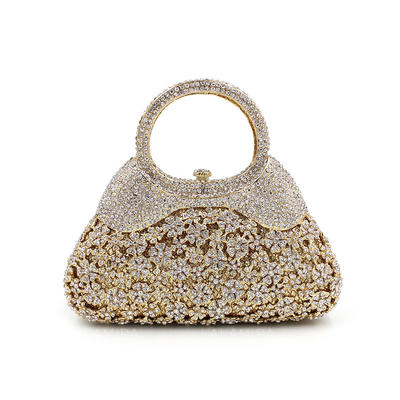 "Clutches/Luxury Clutches Wedding/Ceremony & Party Crystal/ Rhinestone Gorgeous 7.09""(Approx.18cm) Clutches & Evening Bags (012186939)"