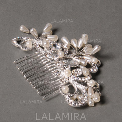 """Combs & Barrettes Wedding/Special Occasion/Party Rhinestone/Alloy/Freshwater Pearl 3.94""""(Approx.10cm) 1.97""""(Approx.5cm) Headpieces (042154419)"""