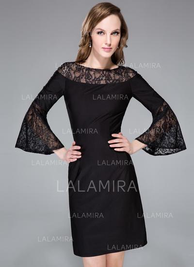 long sleeved little black dress