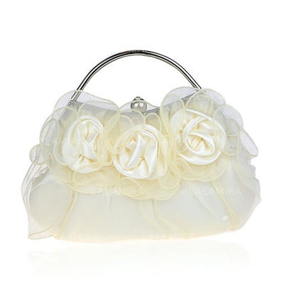 Clutches/Wristlets/Totes/Fashion Handbags/Makeup Bags/Luxury Clutches Wedding/Ceremony & Party/Casual & Shopping/Office & Career Polyester Snap Closure Elegant Clutches & Evening Bags (012187892)