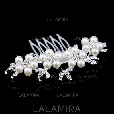 "Combs & Barrettes Wedding/Special Occasion/Casual Alloy/Imitation Pearls 2.76""(Approx.7cm) 2.76""(Approx.7cm) Headpieces (042156143)"