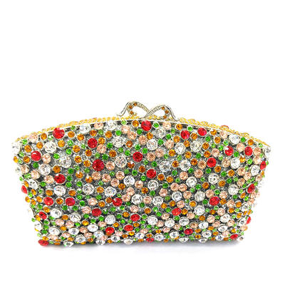 Clutches/Luxury Clutches Wedding/Ceremony & Party Crystal/ Rhinestone/Alloy Magnetic Closure Classical Clutches & Evening Bags (012186163)
