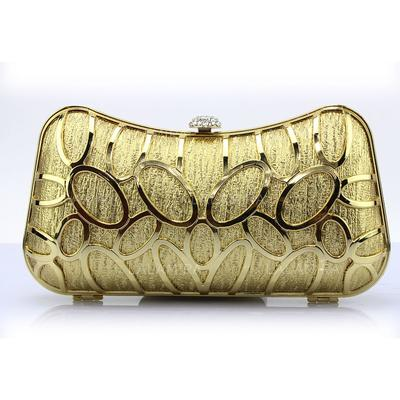 Clutches/Wristlets Wedding/Ceremony & Party/Casual & Shopping PU Clip Closure Fashional Clutches & Evening Bags (012186486)