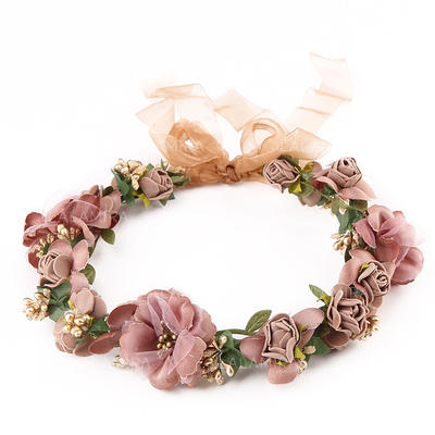 """Headbands Wedding/Outdoor/Party/Art photography Polyester 9.45""""(Approx.24cm) 9.45 """"(Approx.24cm) Headpieces (042158696)"""