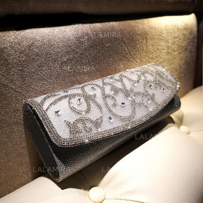 Wristlets/Satchel Wedding/Ceremony & Party/Casual & Shopping Crystal/ Rhinestone/PU Magnetic Closure Gorgeous Clutches & Evening Bags (012186415)