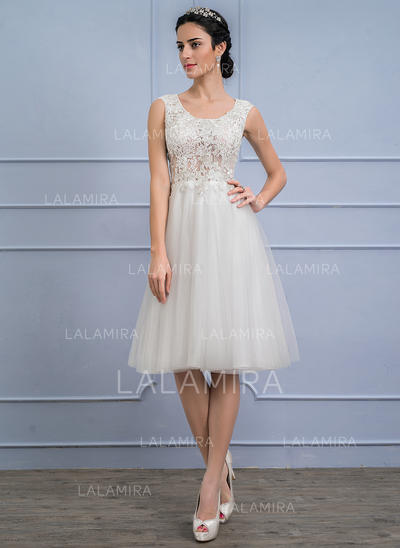 Tulle Lace A-Line/Princess With Newest General Plus Wedding Dresses (002107842)