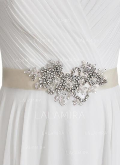 Hermoso Satén Fajas con Diamantes de imitación (015151785)