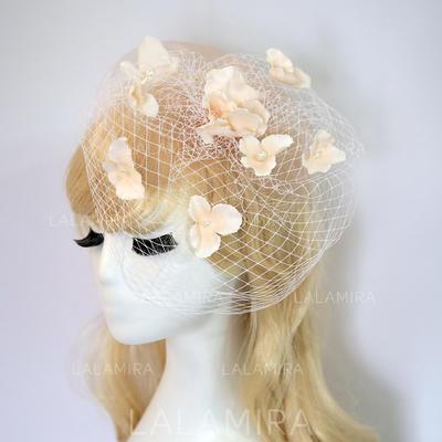 Señoras' Hermoso/Precioso Hilado de la red/Flores de seda con Flores de seda Tocados (196130365)