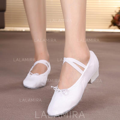 Women's Ballet Belly Flats Canvas Dance Shoes (053181016)