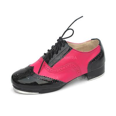 Unisex Tap Planos Piel Zapatos de danza (053087765)