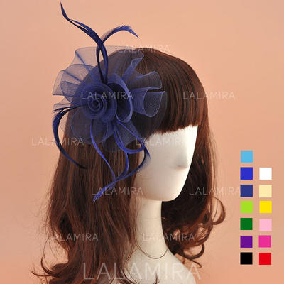Organza With Feather Fascinators Lovely Ladies' Hats (196195066)