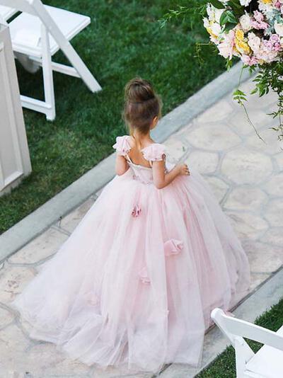 Ball Gown Sleeveless With Tulle Flower Girl Dresses