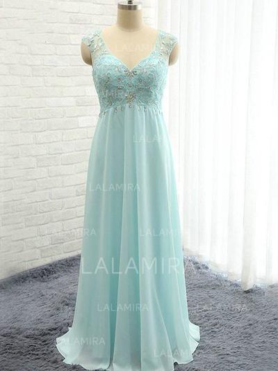 A-Line/Princess Floor-Length Sweetheart Sleeveless Chiffon Bridesmaid Dresses (007211713)