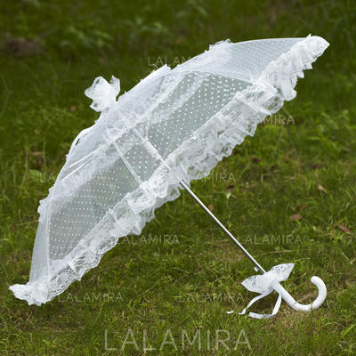 Wedding Umbrellas Bridal Parasols Women's Wedding Hook Handle Wedding Umbrellas (124148566)