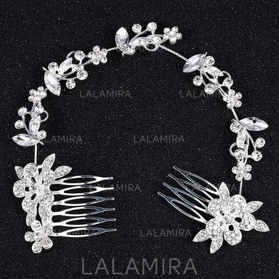"""Combs & Barrettes Alloy 10.63""""(Approx.27cm) 2.36""""(Approx.6cm) Rhinestone Headpieces (042159161)"""