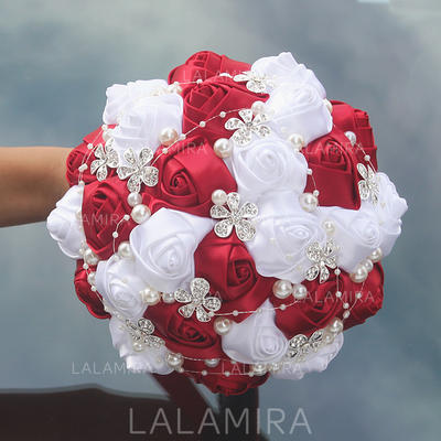 """Bridal Bouquets Round Wedding/Party Satin 9.84""""(Approx.25cm) Wedding Flowers (123190067)"""
