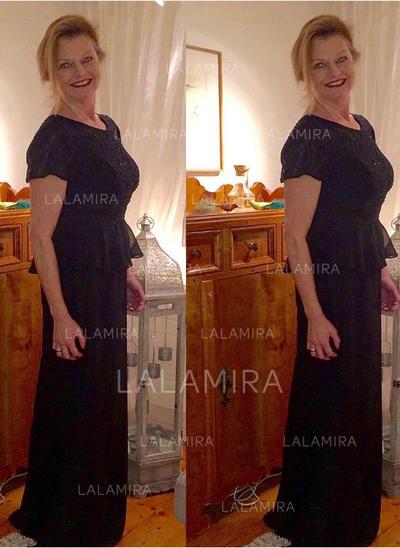 Vestidos princesa/ Formato A Decote redondo Tecido de seda Princesa Vestidos para a mãe da noiva (008212741)