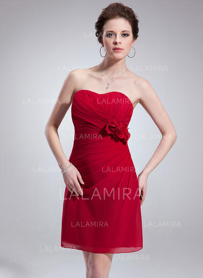 Short/Mini A-Line/Princess Sleeveless Chiffon Bridesmaid Dresses (007198580)