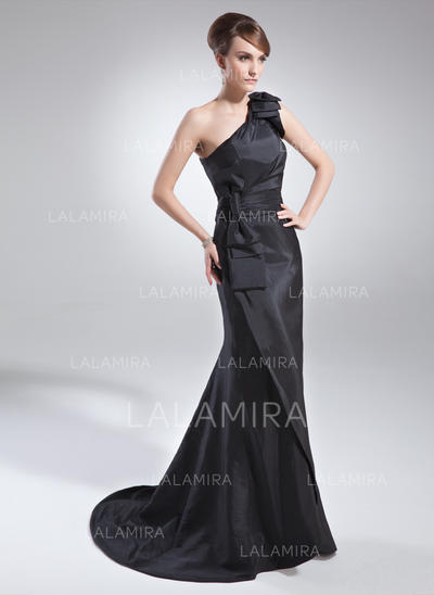 Trumpet/Mermaid One-Shoulder Taffeta Delicate Mother of the Bride Dresses (008211407)