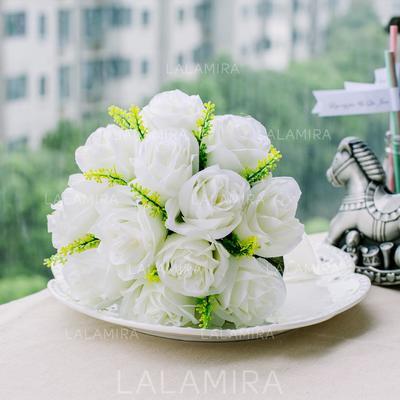 "Bridesmaid Bouquets Round Wedding Satin 8.66""(Approx.22cm) Wedding Flowers (123188264)"