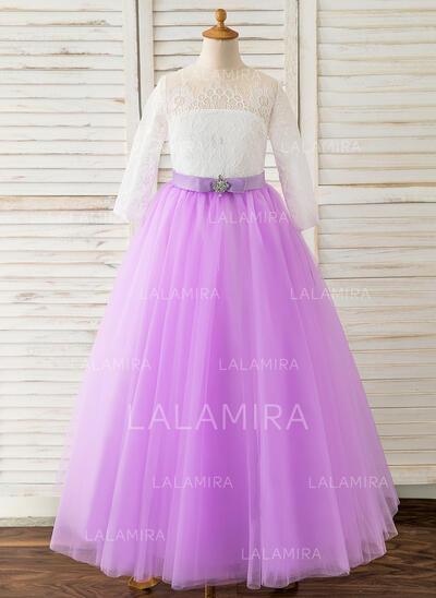 Ball-Gown Princess Floor-length Flower Girl Dress