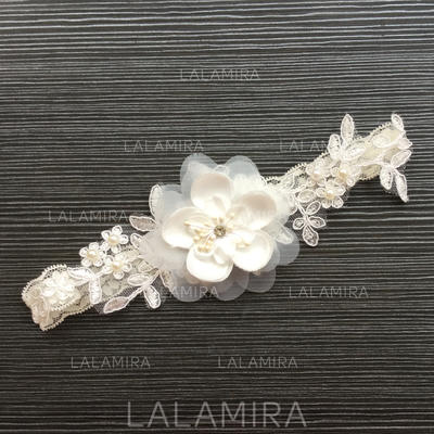Garters Women/Bridal Wedding/Special Occasion Lace With Flower/Imitation Pearls Garter (104196454)