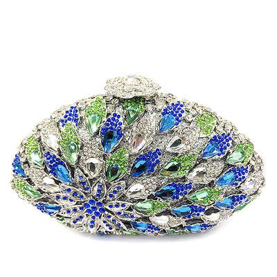 Bolso Claqué Bolso de Lujo Boda Ceremonia   Del Partido Cristal   Diamante  b81e8812f097