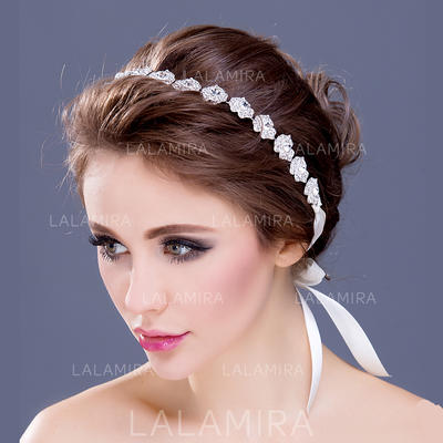 """Headbands Wedding/Special Occasion/Party Rhinestone/Silver Plated 12.60""""(Approx.32cm) 0.78""""(Approx.2cm) Headpieces (042154662)"""