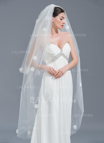 Waltz Bridal Veils Tulle Two-tier Oval With Cut Edge Wedding Veils (006152130)