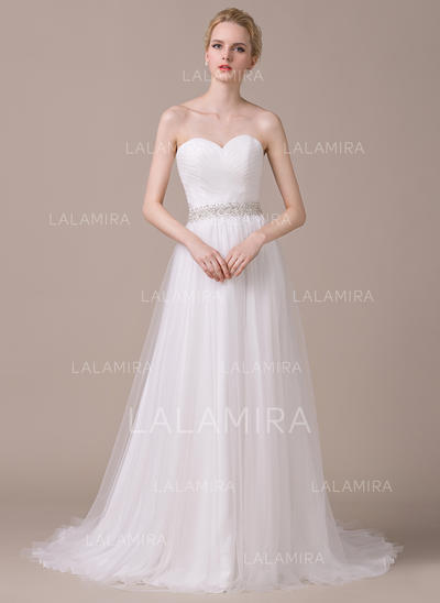 Flattering Tulle Wedding Dresses With A-Line/Princess Sweetheart (002210615)