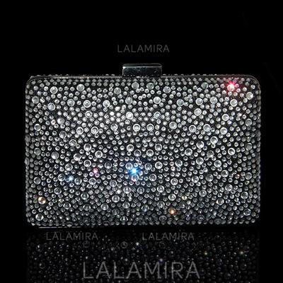 Clutches/Wristlets Wedding Crystal/ Rhinestone Clip Closure Charming Clutches & Evening Bags (012186800)