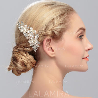 """Combs & Barrettes Wedding/Special Occasion Rhinestone/Alloy 4.02""""(Approx.10.2cm) 2.76""""(Approx.7cm) Headpieces (042158036)"""
