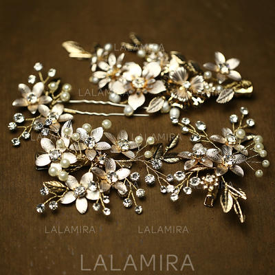 Hairpins/Combs & Barrettes Wedding/Special Occasion/Casual/Party/Art photography Rhinestone/Imitation Pearls Elegant Color & Style representation may vary by monitor Headpieces (042156602)